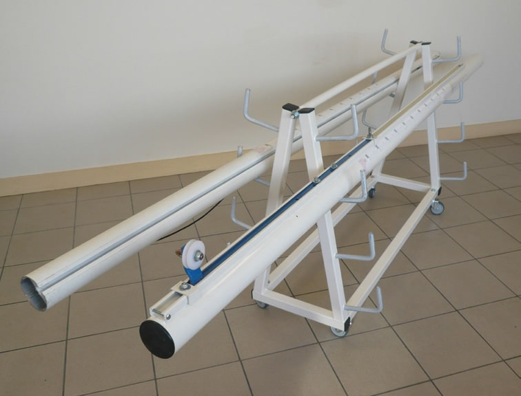 chariot de transport pour poteaux de volley ball