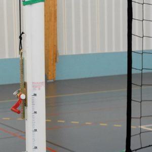 Poteaux ronds, volley, aluminium