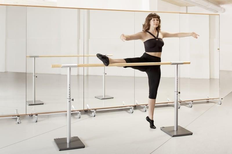 barre de ballet mobile et ajustable