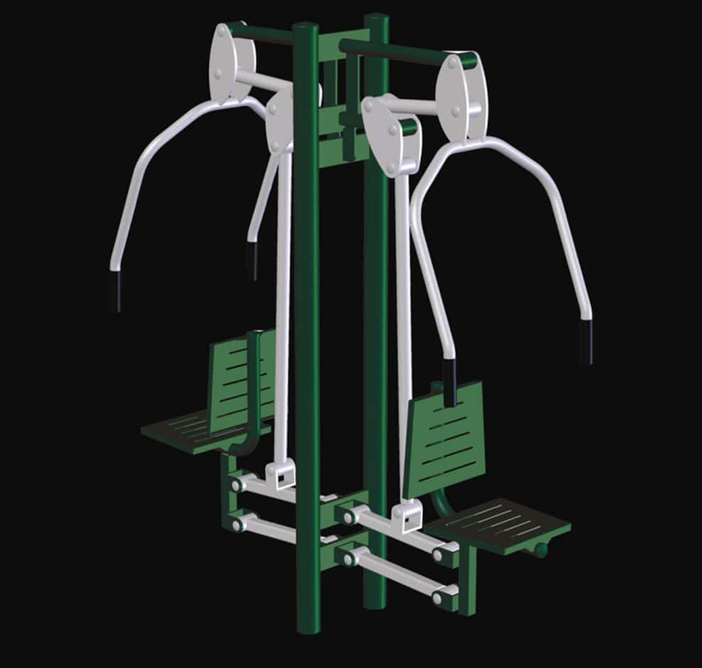 Developp vertical double fitness exterieur musculation for Exterieur biceps