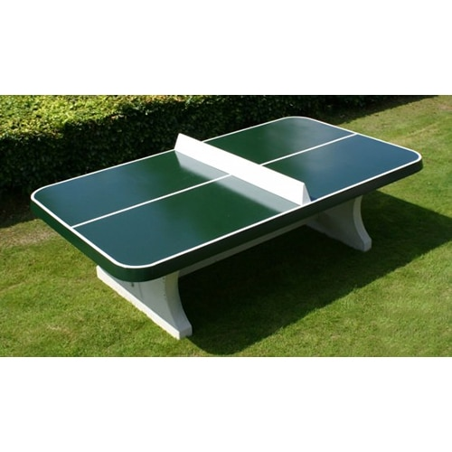 table de ping pong beton verte angles arrondis. Black Bedroom Furniture Sets. Home Design Ideas
