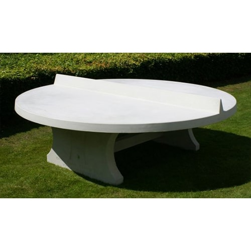 Table de ping pong ronde en beton naturel - Table ping pong exterieur beton ...