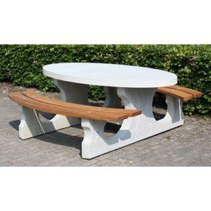table de pique nique ovale deluxe