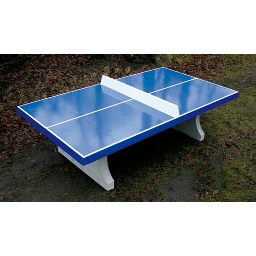 table de ping pong beton bleue. Black Bedroom Furniture Sets. Home Design Ideas
