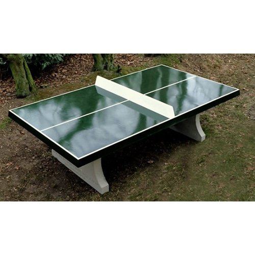 table de ping pong beton verte. Black Bedroom Furniture Sets. Home Design Ideas