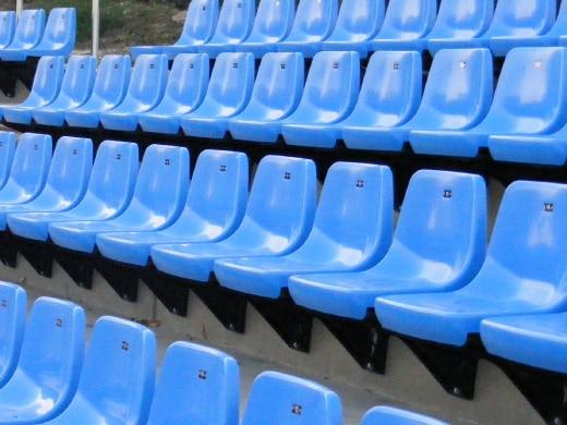 siège, coque, stade, tribune