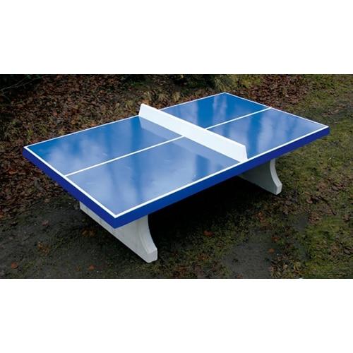 table de pingpong beton bleue